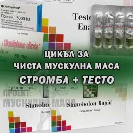Цикъл със Станозолол / Стромба и Тестостерон енантат (депо).