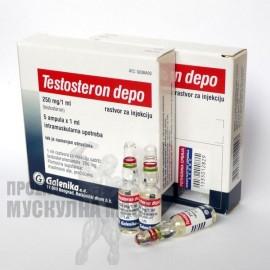 Тестостерон депо Galenika цена 5 ампули.