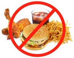 Храна която трябва да се избягва от фитнес трениращи, на анаболни стероиди.
