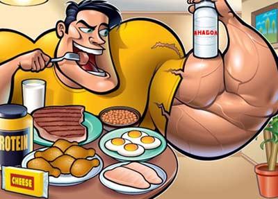 Правилно хранене при употреба на анаболи за качване на мускулна маса.